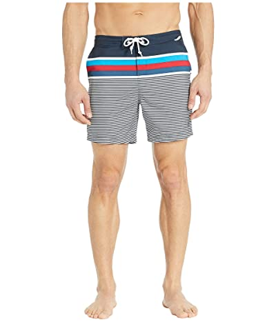 Original Penguin Stripe Fixed Waist Volley (Dark Sapphire) Men