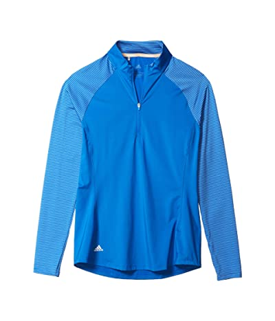 adidas Golf Solid UPF Polo Shirt (Glory Blue) Women