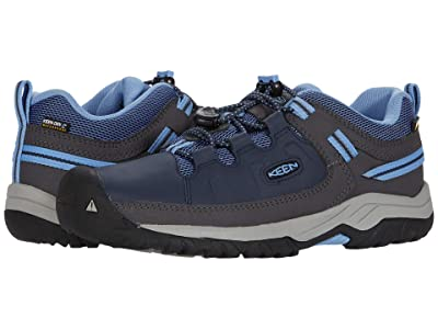 Keen Kids Targhee Low WP (Little Kid/Big Kid) (Blue Nights/Della Blue) Girl