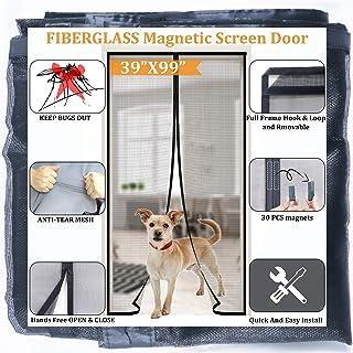 Magnetic Door Screen 39x99,Full Frame Seal,Strongest Magnets Build-in,Durable Fiberglass Mesh Curtain Front Door Mesh Fits...