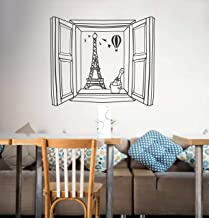Wallency Eiffel Tower Peel and Stick Paris Themed Wall Decal - Beautiful Removable Vinyl Sticker