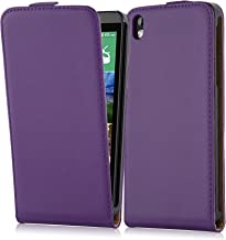 Cadorabo Case Works with HTC Desire 816 in Lilac Violet – Flip Style Case Made of Smooth Faux Leather – Wallet Etui Cover Pouch PU Leather Flip