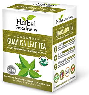 Guayusa Leaf Tea - Clean Energy - Natural Caffeine - Performance, Mental Clarity & Focus - Fat Burner - Coffee & Yerba Mat...
