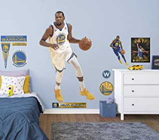Fathead NBA Golden State Warriors Kevin Durant - Officially Licensed NBA Removable Wall Decal - 22-20872