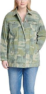 Levi's Women's Plus Size Oversized Classic Printed Cotton Trucker Jacket, Camouflage