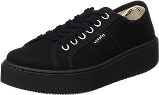 Basket Lona Piso Negro, Zapatillas para Mujer