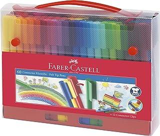 Faber-Castell Viltstiften, connector 60 in koffer. 60-teiliger Koffer multicolor