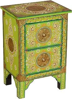 Casa Moro Marrakesch Aparador Indian Style Armario de Madera pintadas a Mano Armario de Madera Mango Mano Made Vintage - C...
