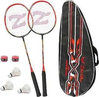 comprar comparacion Philonext 2-Pack Raquetas de bádminton entrenadas con 3 Volantes & Bolsa de Transporte & 2 sobregrip, Raqueta de bádminton...