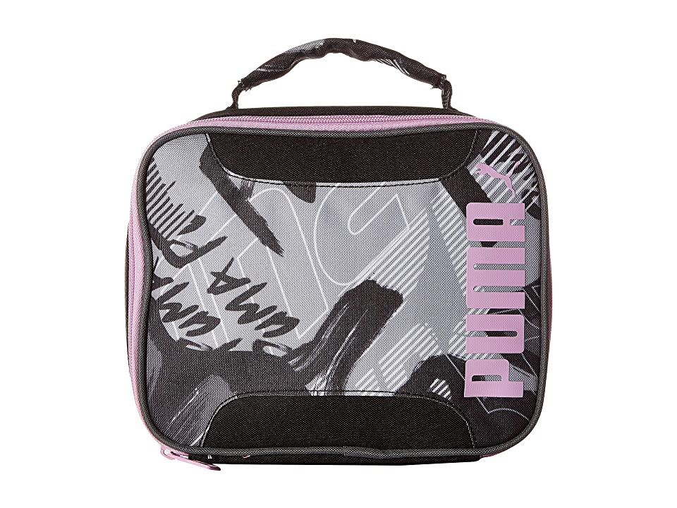 PUMA Evercat Contender 2.0 Lunch Box (Little Kids/Big Kids) (Black/White/Grey) Bags