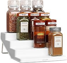 YouCopia SpiceSteps 4-Tier Kitchen Cabinet Spice Rack Organizer, 12-Bottles, White