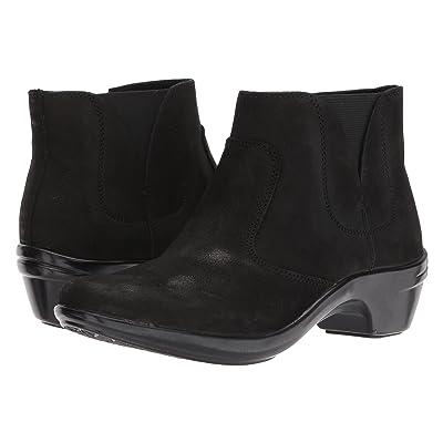 Aravon Kitt Bootie (Black Leather) Women