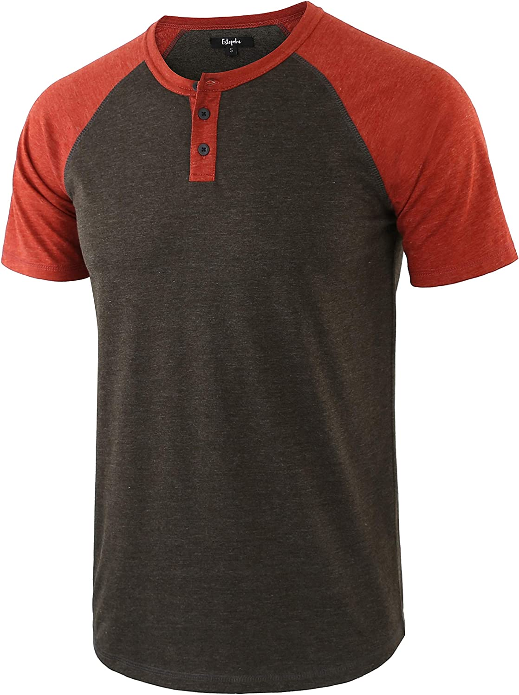 Estepoba Men's Casual Vintage Short Fresno Mall Raglan OFFicial Henle Baseball Sleeve