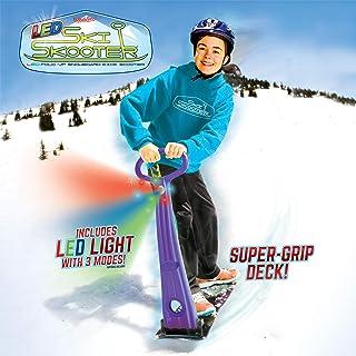 GeoSpace Original Ski Skuter LED: Scooter Snowboard تاشو برای استفاده در برف و چمن ، انواع رنگها (قرمز ، سبز یا آبی)