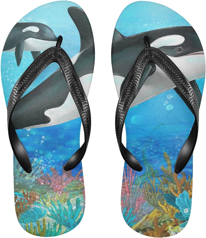 Linomo Men's Cute Sea Super beauty product restock quality top! Animal Super sale period limited Dolphin Flop Flip Slim Summer Beach