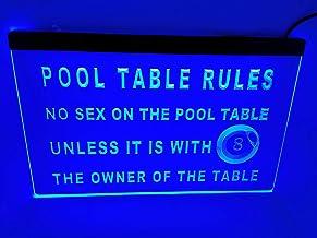 jxledsign Blue Pool Table Rules Beer Bar Budweiser Led Light Sign