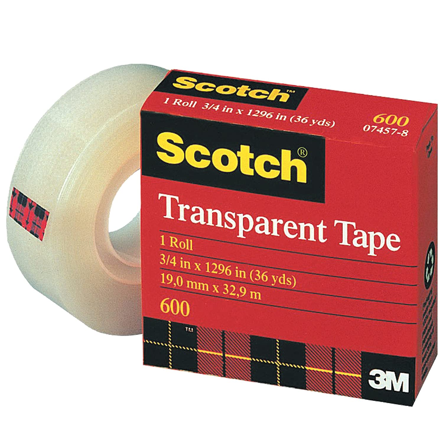 Scotch 600 Multitask Tape 2.3 Mil 1 Transparent Mail order Complete Free Shipping cheap Yds x 36 2