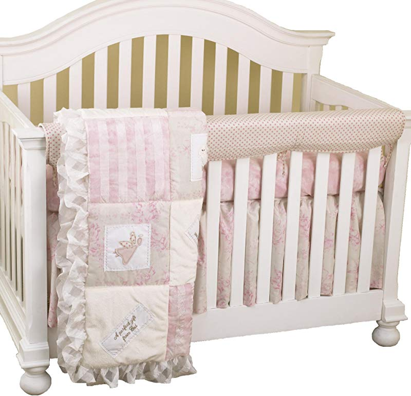 Cotton Tale Designs Front Crib Rail Cover Up Set Heaven Sent Girl