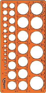 Maped - Trace-Cercles Pairs et Impairs de 1 à 35 mm - 39 Cercles - Règle 22 cm - Pochoir Technic - Antichoc - Normographe ...