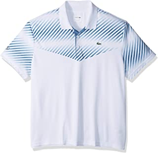Lacoste Men's Sport Short Sleeve Ultra Dry Color Blocked Print Polo