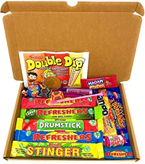 Retro Sweets Mini Selection Box: Box of 18 Childrens Sweets, Sweet Box for Birthdays, Party's, Pinata Fillers: Letterbox w...