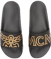 MCM - Logo Rubber Slide Sandal