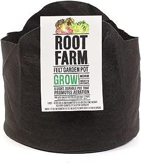 Root Farm 10101-10014 Felt Garden Pot-Grow Bag for Fruits Vegetables, and Flowers, Promotes Aeration, Durable, 5 Gallon, Medium