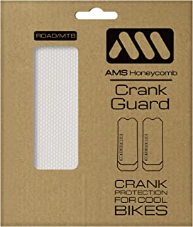 All Mountain Style Crank Guard Specially designed to protect crank arms of mountain and road bikes from scratches and rubbing, Clear/Silver , One size