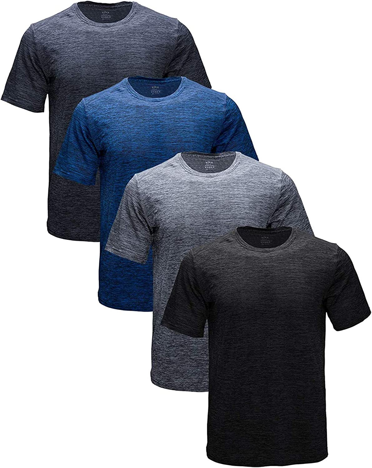 ZITY Mens Quick Dry Discount mail order T-Shirt Fit Ru Moisture-Wicking Athletic Max 74% OFF