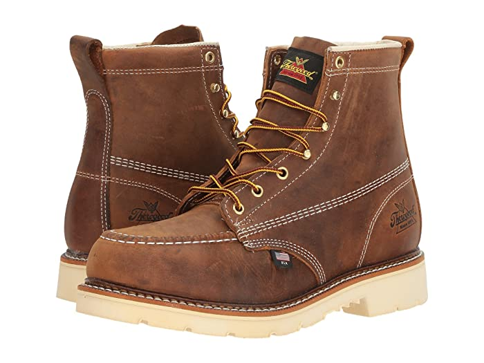Thorogood  American Heritage 6 Steel Toe (Brown Crazy Horse) Mens Work Boots