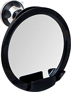 Shatterproof Fogless Shower Mirror For Shaving with Razor Holder and Superior Sticky Suction-Cup, Antifog via Heat Transfer, 8