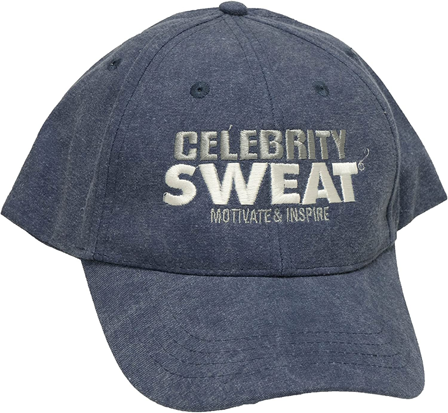 Celebrity Sweat Cap  bluee with White Grey Writing As Seen on TV