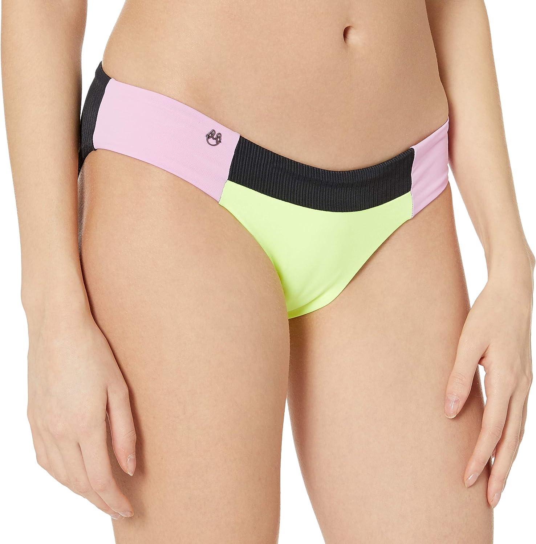 Maaji Women's Standard Voyage Ruched Reversible Signature Cut Bikini Bottom Swimsuit