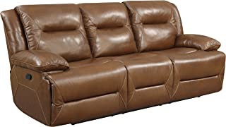 Stylistics Hunter Leather Sofa, 91