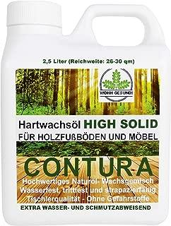 2,5 Liter Contura HARTWACHSÖL Premium High Solid Holzöl Parkettöl Fussbodenöl Möbelöl Wachs Holzwachs Farblos anfeuernd Hartöl Holzschutz