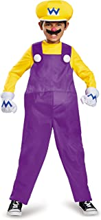 Wario Deluxe Super Mario Bros. Nintendo Costume, Medium/7-8
