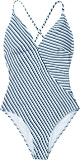 CUPSHE Women's Modest Swimwear Simple Living Stripe One-piece Swimsuit Bathing Suit