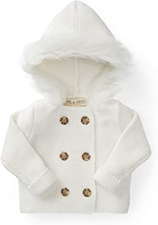 Hope & Henry Layette Faux Fur Hooded Sweater