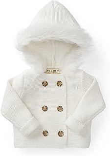 Hope & Henry Layette Long Sleeve Faux Fur Hooded Sweater