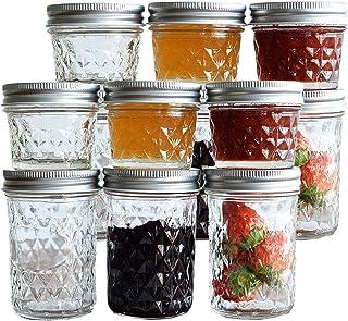 Tebery 12 Pack Mason Jars 8oz & 4oz Canning Jars Jelly Jars With Regular Lids for Jam, Honey, Wedding Favors, Shower Favor...