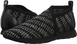 Black/Silver Geo Knit
