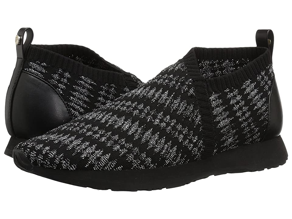 Taryn Rose Caren (Black/Silver Geo Knit) Women