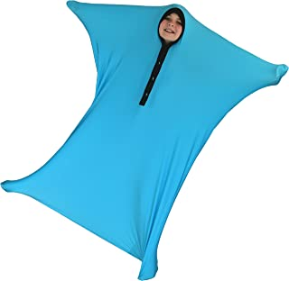 ZZZ Weighted Blankets Sensory Sack, Sensory Sock, Body Sock (Blue, Small (3-5))