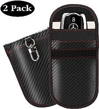 Manfiter Faraday Key Fob Protector, Car Signal Blocker Faraday Bag for Keyless Fob (2 Pack), Auto Vehicle Anti-Theft Signal Shielding Pouch