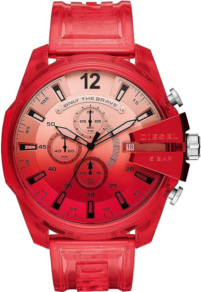 Diesel orologio cronografo da uomo con cassa in nylon e cinturino in poliuretano DZ4534