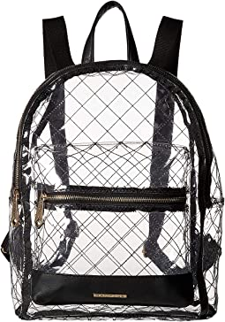 Clear Quilted Dome Backpack