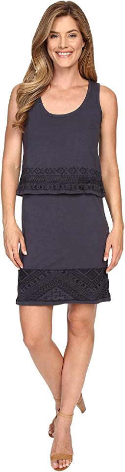 Slub Jersey Lace Hem Tank Dress