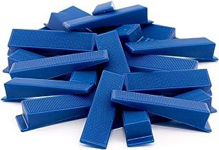 Lantelme 100 st. montagewiggen set kunststofwig voor bouwramen deurmontage kleur blauw deurwig raamwig 7057