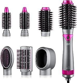 برس و حجم دهنده سشوار 6 در 1 ، سشوار موی جدا شونده ، برس یک مرحله ای با هوای گرم برای صاف کردن موهای خشک کردن مو ، حالت شانه زدن ماساژ پوست سر