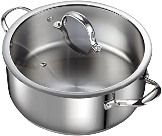 Cooks Standard 7-Quart Classic Stainless Steel Dutch Oven Casserole Stockpot with Lid